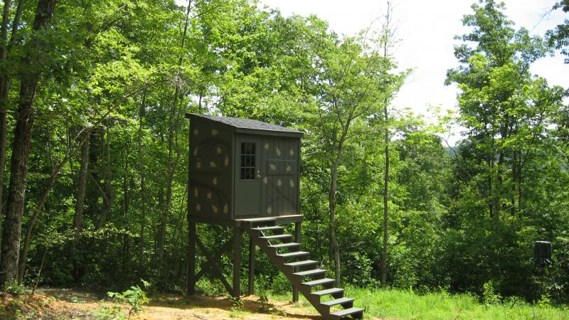 Danny Tackett Home deer blindSHOOTING HOUSE PLANS a step by